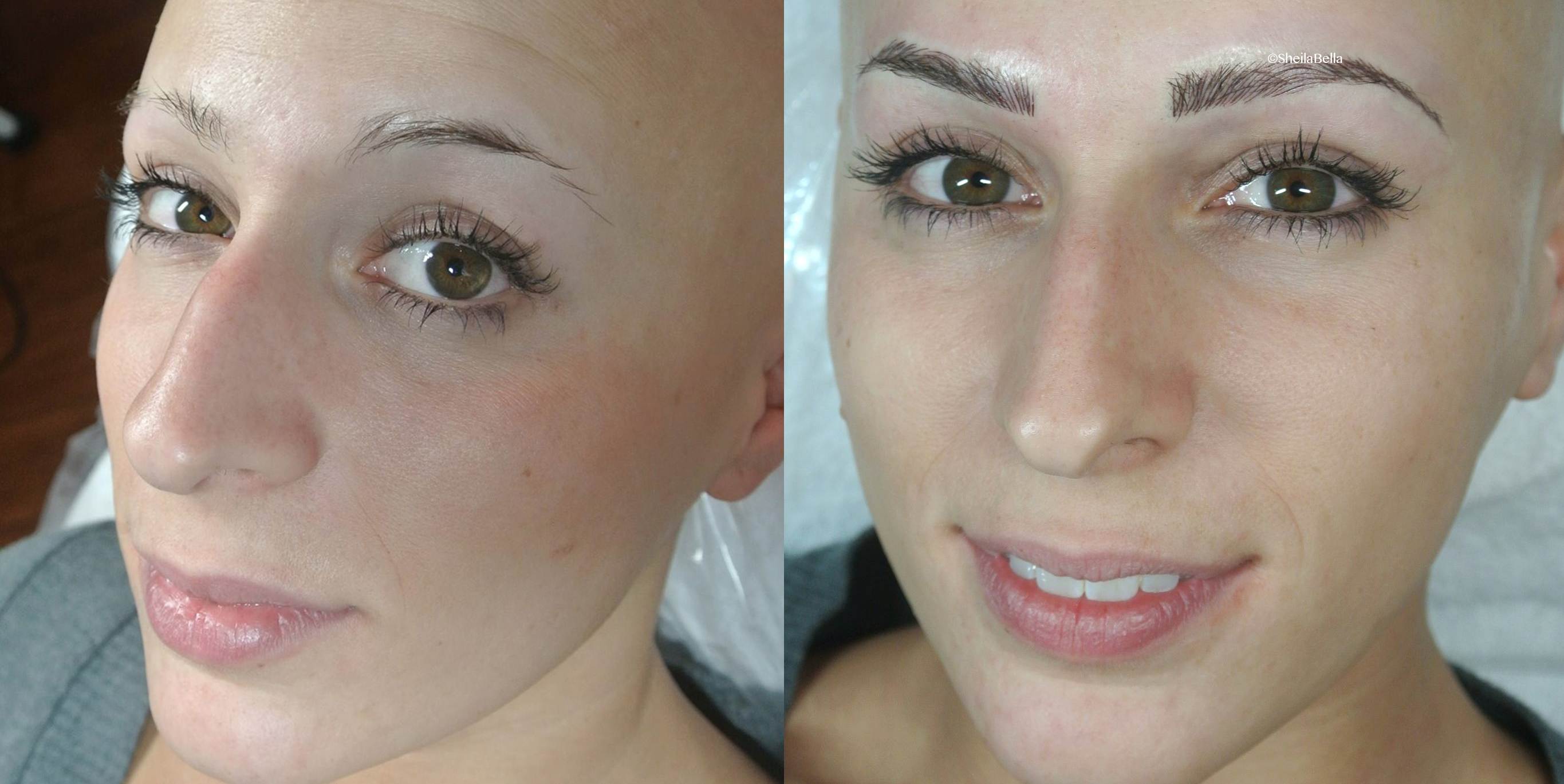 alopecia Permanent Makeup Eyebrow hair stroke technique