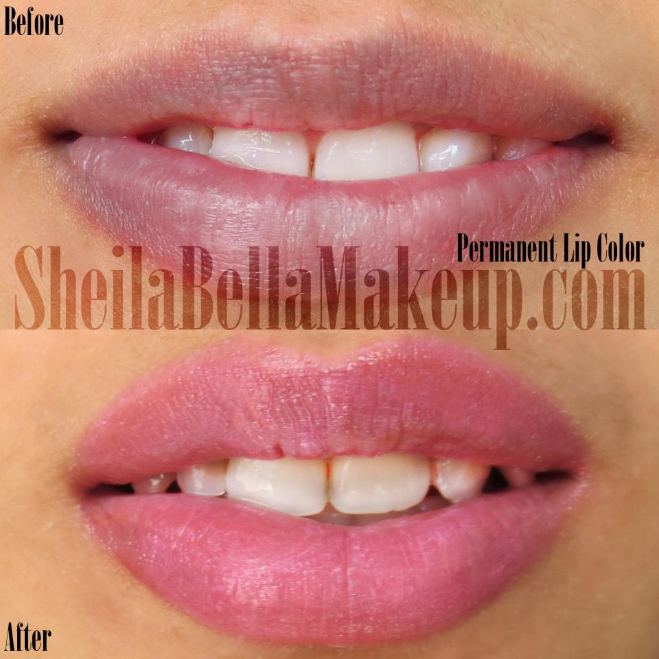 Permanent Makeup Lip Stain And Liner Look Sheila Bella Permanent Makeup And Microblading