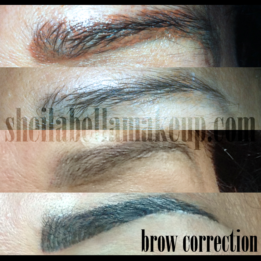 eyebrow correction sheila bella permanent makeup and