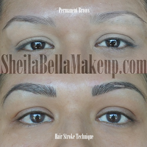 Hair strokes permanent makeup style guru fashion glitz for Tattoo eyebrows nj