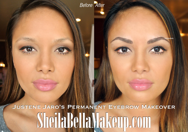 Justene Jaros Eyebrow Transformation Sheila Bella Permanent